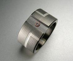 Mens Art Deco Engagement Ring