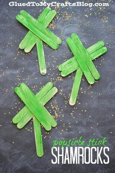 Popsicle Stick Shamrocks - Kid Craft AD