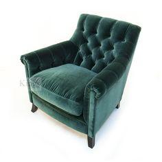 stunning deep green velvet buttoned club chair from #Tetrad #Upholstery http://www.kingsinteriors.co.uk/