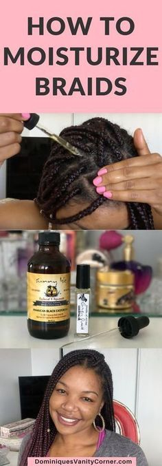 How to Moisturize Natural Hair in Braids natural hair, natural hair, natural hair care, protective styles for natural hair, protective hairstyles for transitioning hair, protective style braids, braids for black hair, braids for black hair protective styles, braids for black hair african americans, natural hair styles, natural hair for 4c, Black Jamaican Castor oil, braids for black women, Braids for African American women, box braids, kanekalon hair, how to braid hair, natural hair care…