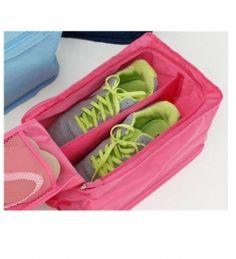 Hoppingo | Home Union Waterproof Travel Shoe Bag In Pink