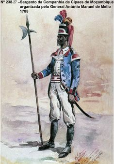 Portuguese Colonial Troops Native Sergeant - Mozambique / Moçambique 1788