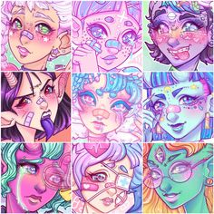 """NEW ART CHALLENGE Share the faces of your art 💙 LET US LOOK THEM IN THE EYES! I love to see how artists styles look over different pieces as mine certainly changes and grows with me! Use the hashtag and discover other talented artists! Art Sketches, Art Drawings, Arte Grunge, Character Art, Character Design, Harajuku, Graffiti Characters, Cute Art Styles, Demon Art"