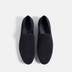 Image 3 of MICRO-PERFORATED LEATHER LOAFERS from Zara