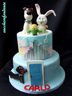 The secret life of pets cake www.zuccherofondente.blogspot.it