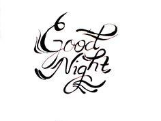 Good Night dear #lefthanded #lettering