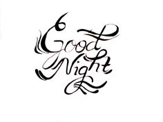 Good Night dear #lefthanded #lettering