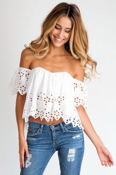 The Stone Cold Fox Holy tube top in black eyelet captures the Bohemian spirit of our unique selection. Shop Soleil Blue for of swimwear, clothing and accessories from top designers! Looks Style, Looks Cool, Style Me, Simple Style, Mode Outfits, Fashion Outfits, Teen Fashion, Fashion Trends, How To Have Style