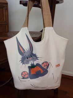 Bunny bag Bunny Bags, Reusable Tote Bags