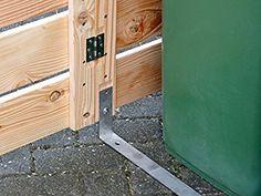 3er Mülltonnenbox / Mülltonnenverkleidung 240 L Holz, Transparent Geölt Grau: Amazon.de: Garten