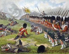 The Advance of the Sutherland Highlanders at the Battle of Alma 1854 by Richard Simkin. Military Insignia, Military Art, Military History, Military Diorama, Military Uniforms, Army Uniform, Battle Of Balaclava, British Uniforms, Army Day