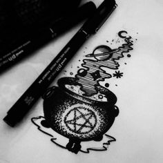 Black Magic Potion Tattoo (@zecaevollucao)