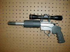 Luigi Franchi Safari 13 With A 454 Casull Revolver Over A