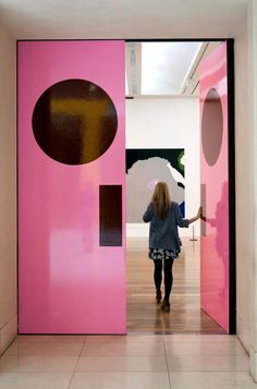 Think pink! // Pink doors by artist Gary Hume, TATE exhibition Tout Rose, Interior And Exterior, Interior Design, Everything Pink, Windows And Doors, My Favorite Color, Feng Shui, Pretty In Pink, House Design