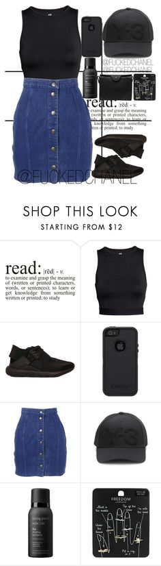 """ Jealousy in the air tonight, I could tell I will never understand that but oh, well "" by fuckedchanel ❤ liked on Polyvore featuring Forum, H&M, Y-3, OtterBox, Thierry Mugler, Living Proof, Topshop, Carven and DRAKE"