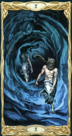 X. The Wheel of Fortune  - Epic Tarot by Riccardo Minetti, Paolo Martinello