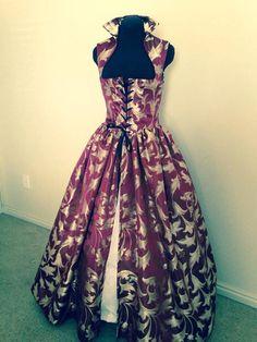 Wein und Gold Renaissance Kleid über Kleid Kostüm ein von desree10