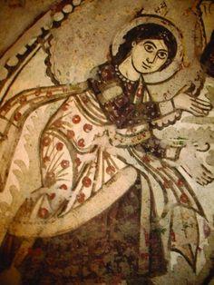 Coptic art at the Red Monastery, Egypt Religious Icons, Religious Art, Sacred Symbols, Byzantine Art, Catholic Art, Orthodox Icons, Indigenous Art, Medieval Art, Christian Art