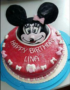 Minnie Maus Torte Birthday Cake, Desserts, Food, Birthday Cakes, Meal, Deserts, Essen, Hoods, Dessert