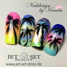 Summer nail art 338051515775487970 - 87 Best Palm Tree Nail Art Designs Summer 2018 Source by feestlclochette Cute Summer Nail Designs, Cute Summer Nails, Cute Nails, My Nails, Nail Art Designs, Nails Design, Palm Tree Nail Art, Palm Nails, Beach Nails