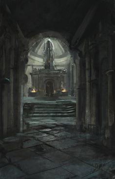Crypt, Mateusz Michalski on ArtStation at https://www.artstation.com/artwork/bmQbE