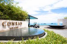 Entrance Conrad Koh Samui Thailand http://travel.bart.la/2012/07/19/ocean-view-pool-villa-at-conrad-koh-samui/