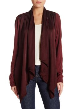 The perfect color for fall!  Love this Velvet by Graham & Spencer Open Cardigan