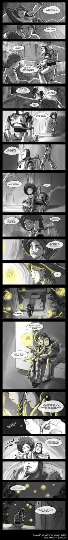 Toy Story: Stars...Sort of. by YoukaiYume on deviantART-----aww how romantic
