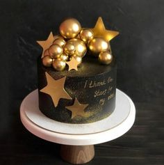 I thank my lucky stars. Baby Birthday Decorations, Happy Birthday Cupcakes, Beautiful Birthday Cakes, Birthday Cakes For Men, Beautiful Cakes, Birthday Cake For Boyfriend, Gold Birthday Cake, Cake Decorating Supplies, Cake Decorating Techniques