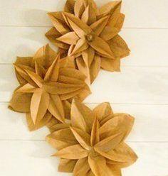 brown bag flowers