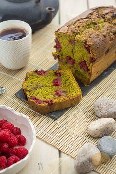 Cake au thé matcha et à la framboise - Sucre d'Orge et Pain d'Epices