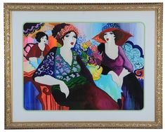 A FRAMED WATERCOLOR BY PATRICIA GOVEZENSKY by Patricia Govezensky Global Art, Art Market, Shapes, Watercolor, Frame, Artist, Pen And Wash, Picture Frame, Watercolor Painting
