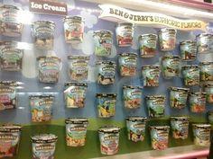 BEN &JERRY'S ICE CREAM EVERYWHERE!!!!! (the Ben & Jerry's Ice Cream factory in Vermont)