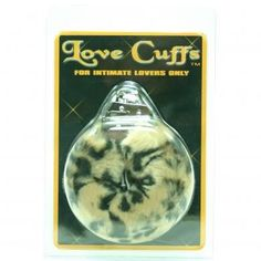 Love Cuffs Plush Leopard For those of us who want to get a little into bondage, without the pain, these plush furry cuffs are perfect. Real metal handcuffs, key included, with a soft furry sleeve that feels so good, when you`re being so bad.