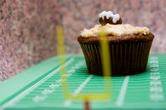 Beer Cheese Cupcakes with Bacon Cheddar Cream Cheese Frosting...sounds a little weird but boy are they yummy!!