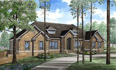 House Plan chp-14755 at COOLhouseplans.com with basement level in-law suite