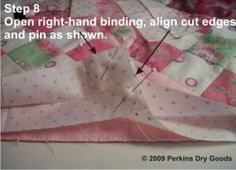 Clear Concise Binding Tutorial over at Perkins Dry Goods