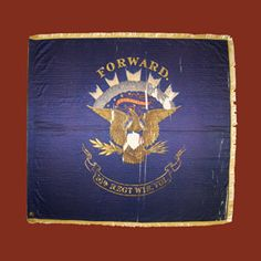 Wisconsin Infantry & Their Flag - Wisconsins Civil War Battle Flags Civil War Flags, Civil War Art, Union Flags, Civil War Photos, Pallet Painting, Shiloh, Military Art, American Civil War, Civilization