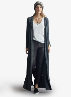 Wendy Duster in Charcoal. Grab this style at Fanci That in Kearney, NE