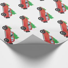 Flat-Coated Retriever Dog Driving Christmas Car Wrapping Paper - christmas wrappingpaper xmas diy holiday