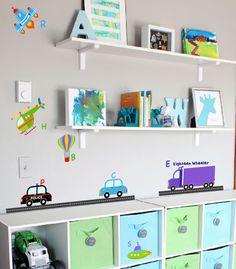 InnovativeStencils - Transportation Alphabet Peel and Stick Wall Decals