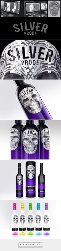 Silver Probe Vodka on Behance by Akim Melnik curated by Packaging Diva PD. Trademark design concept packaging.