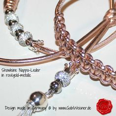 Showleine in roségold-metallic