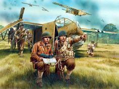 1944 06 06 US glider infantry - Peter Dennis