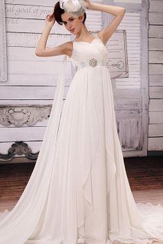 Junoesque V-neck Floor-Length Chiffon Maternity Bridal Dress Wedding Dress 2013, Pregnant Wedding Dress, V Neck Wedding Dress, Cheap Wedding Dress, Maternity Wedding, Gown Wedding, Inexpensive Wedding Dresses, Cheap Prom Dresses, Quinceanera Dresses