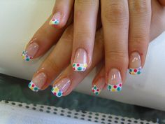 Cute spotty manicure nail design