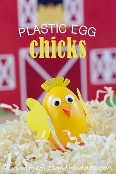 DIY Easter Crafts : DIY Plastic Egg Chicks