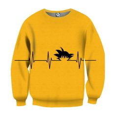 Dragon Ball Kid Goku Heart Beat Symbol Cool Creative Design Sweatshirt  #DragonBall #KidGoku #HeartBeatSymbol #CoolCreativeDesignSweatshirt
