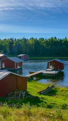 Boat harbour in the archipelago of Swedish Lapland