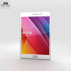 Asus ZenPad S 80 White 3D Model .max .c4d .obj .3ds .fbx .lwo .stl @3DExport.com by humster3D